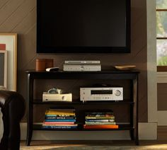 i like this pottery barn tv stand