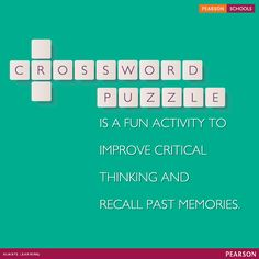 Crossword puzzle is a fun task which makes children feel mentally invigorating and stimulating. It can help your children improve their brain power. #LearningMadeEasy