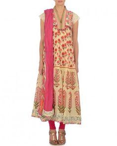 Ladies Dresses, Women's Dresses, Summer Dresses, India Style, Ritu Kumar, Vanilla Cream, Pakistani Suits, India Fashion, Indian Outfits