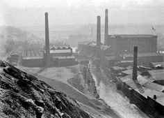 Lockwood, 1910. Source: Kirklees Image Archive Huddersfield Town, Image Archive, Historical Photos, Cn Tower, Old Photos, Landscapes, Industrial, Urban, Black And White