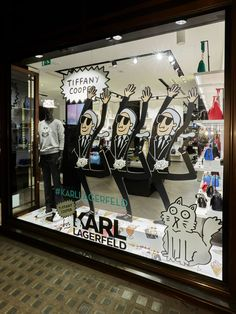 KARL LAGERFELD X TIFFANY COOPER (French Author and Illustrator), by Chameleon Visual, pinned by Ton van der Veer