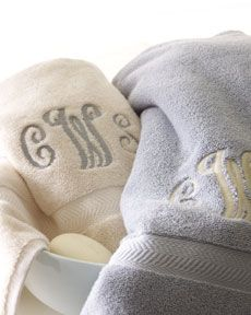Gray & Cream Bath Towels