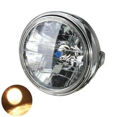 7inch 12V 35W H4 Motorcycle Headlight Bulb Rear Mount Head Lamp. 7inch 12v 35w H4 Motorcycle Headlight Bulb Rear Mount Head Lamp    description:  durable  easy To Install, High Effiency  h4 Bulb 12v 35/35w P43t  7inch Black Motorcycle/bike Round Headlight H4 Bulb Head Lamp Side Mount Style    specification:  material: Abs Plastic Housing And Metal Chrome Ring  color: Clear Lens And Black Shell  blub Color: Warm White  quantity: 1 Pc  size: 7 Inch,as The Picture Show  package Size: 20 X 15 X…