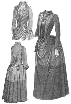 1889 Bordered Wool Dress w/Jacket https://www.agelesspatterns.com/dresses__12.htm