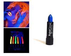 Rouges à lèvres - PaintGlow - UV fluorescents - Néon Bleu - 14 Grs: Amazon.fr: Beauté et Parfum