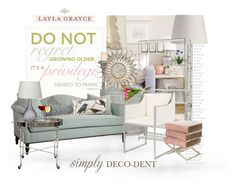 """Layla Grayce So Deco - Dent"" by no-where-girl ❤ liked on Polyvore featuring interior, interiors, interior design, home, home decor, interior decorating, Arteriors, Jamie Young, Worlds Away and Bliss Studio"