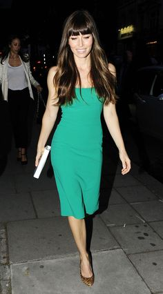 Jessica Biel keeps it simple and fresh in green