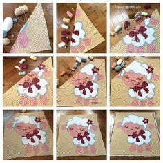 Repeat Crafter Me: Crochet Corner to Corner (C2C) Baby Sheep Graphgan -- cool blanket idea
