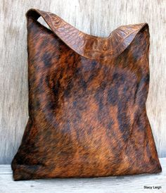 Brindle Cowhide Bag - LOVE IT! #Cowhide for a purse! <3