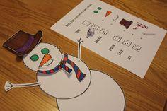construeix el ninot de neu