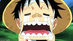 don't cry luffy