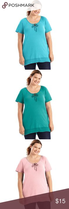 Just My Size Chiffon-Trim Hi-Lo Women's Tunic Boutique