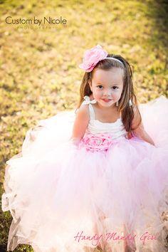 Gorgeous little girl! Flower girl dress