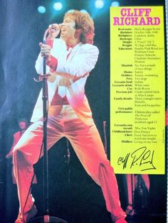 CLIFF Sir Cliff Richard, Billy Graham, Elvis Presley, The Beatles, Eurovision Song Contest, Interview, Mark Knopfler, Love K, My Emotions
