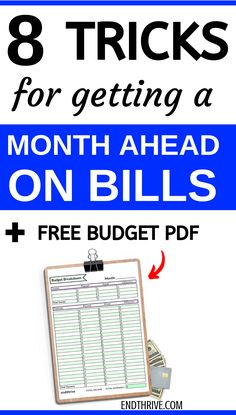 Are you wanting to get started with your budget and save money? This budget guideline teaches you how to get a month ahead using your budget. These budgeting tips work for beginners or experts. Its all about managing your money and organizing your budget. Planning Budget, Budget Planner, Plan Budgétaire, How To Plan, Money Saving Challenge, Money Saving Tips, Money Tips, Savings Challenge, Money Plan