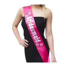 Our Pink & Silver Bridesmaid Sash will make sure any bridesmaids attending your hen party are a sight for sore eyes indeed! Bridesmaids should get special treatment - after all, they will play a big part in the actual wedding. What treatment is more special than getting to wear a gorgeous hot pink bridesmaid sash on the hen party letting everyone know just how important they are?