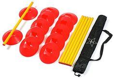 Agility Ladder Speed Training Equipment: 6 Poles, 12 Cones, Carry Case & Bonus Workout Drills eBook - http://www.exercisejoy.com/agility-ladder-speed-training-equipment-6-poles-12-cones-carry-case-bonus-workout-drills-ebook/cardio-training/