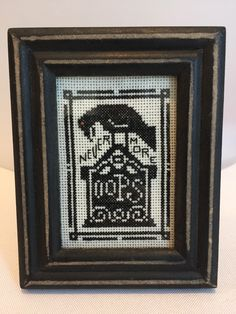 Nevermore, a Vintage Halloween Cross stitch