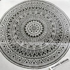 Intricate #mandala #moleskine #mywork #мое