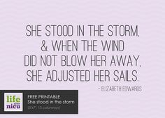 Nicu Quotes | Free Printable :: She stood in the storm