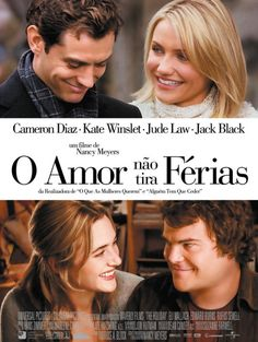 The Holiday Movie Perfect pairing - Jude Law with Cameron Diaz and Kate Winslet with Jack Black.LOVE this romantic holiday movie! Chick Flicks, Chick Flick Movies, Film Music Books, Music Tv, Art Music, Romantic Christmas Movies, Holiday Movies, Christmas Time, Xmas Movies