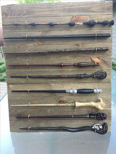 DIY Harry Potter wand holder! Came out great! | crafts ...