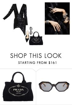 """Dark paradise"" by maluboul ❤ liked on Polyvore featuring Prada, Garrett Leight and Alexandre Birman"