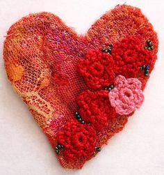 felt and crochet