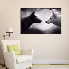 Two Wolves Silk Poster 33x50cm