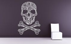Skull and Crossbones of Swirls  Decal Sticker by VinylWallAccents, $38.00  http://www.etsy.com/listing/72504492/skull-and-crossbones-of-swirls-decal?ref=sr_gallery_7_search_query=skull_view_type=gallery_ship_to=ID_page=6_search_type=all