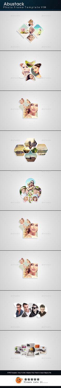 Abustack #PhotoFrameTemplate V04 - Photo Templates Graphics.