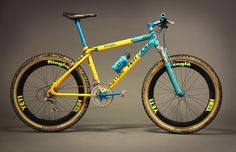 Yeti ARC racing mountain bike, vintage from early '90s. Complete with Ringlé components, Grafton cranks, HED rims and Rock Shox Judy fork.