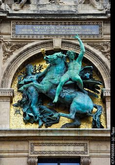 France, Paris 75, Ile de France, the Louvre, statue of Napoleon III