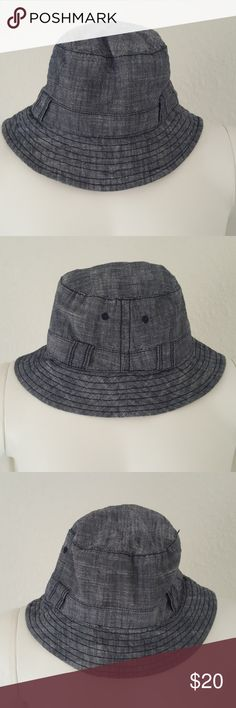 16a8c8eade9 baby GAP Indigo Chambray Bucket Hat Toddler M L Adorable chambray denim bucket  hat from baby GAP