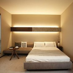 Bedroom Apartment, Bedroom Wall, Japan Room, Architectural Lighting Design, Bedroom Lighting, Home Renovation, Interior And Exterior, Living Room Decor, Cancun