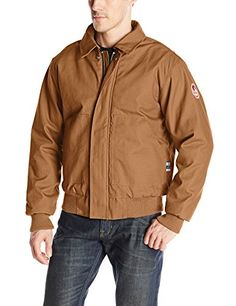 Walls Mens Flame Resistant Insulated Bomber Jacket -- You can get additional details at the image link.