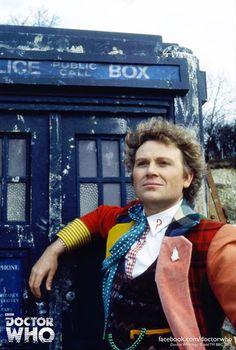 "Doctor Who 6th--I've met Colin Baker twice and he's the nicest person ever! I wish he could have had a chance at another season. (Stupid BBC!!) His plan was to have the Doctor lose his ""coat of many colors"" and gradually dress in blue."