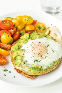 A tasty spin on classic egg in a hole, this recipe features an egg fried inside a bagel with avocado on top. Perfect quick, healthy breakfast or dinner!