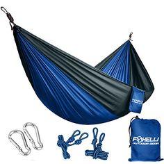 Travel Beach Double Camping Hammock Nylon Portable Hammock Best Parachute Double Hammock For Backpacking Yard. Camping