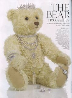 You and Your Wedding March/April issue out on the 30th January.   Classiest teddy we have ever seen wearing JCM London Sherazade necklace and looking very regal!