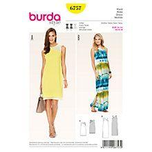 Buy Burda Women's Dresses Sewing Pattern, 6757 Online at johnlewis.com