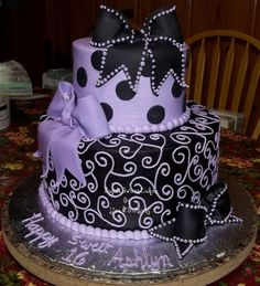 This is the best birthday cake ever! Plus, it's purple (if you know me, you know I LOVE purple!)CC