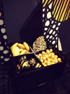 idea bomboniera wedding black&gold