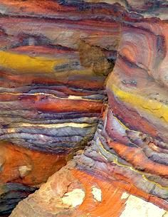 eroded sandstone formations, Petra, Jordan