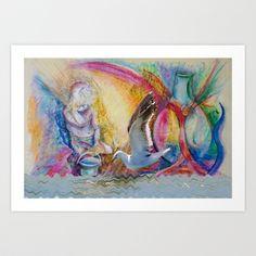 Bines Golden Sponge Framed Art Print by crismanart Manipulation Photography, Framed Art Prints, Collage, Pastel, Artwork, Painting, Gull, Sea, Photos