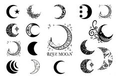 luna creciente tatuaje - Google Search