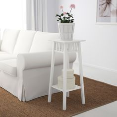Products IKEA - LANTLIV Plant stand white Storage Cabinets Buying Guide This article is a storage ca Bathroom Rules, Wood Bathroom, Small Bathroom, Clutter Solutions, White Plants, Bathroom Plants, Curtains With Blinds, Fibres, Cleaning Wipes