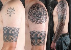 Building a Celtic Sleeve — LuckyFish, Inc. and Tattoo Santa Barbara Irish Celtic Tattoos, Celtic Tattoo Meaning, Celtic Sleeve Tattoos, Fake Tattoo Sleeves, Armband Tattoos For Men, Full Sleeve Tattoos, Arm Tattoos For Guys, Tattoos Arm Mann, Tattoos Skull