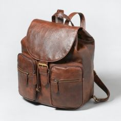 Little Leather Backpack - This is so Tomb Raider! I could see Lara Croft running around with this!
