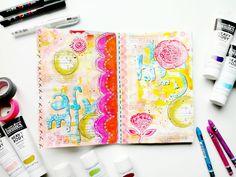 Bonjour, J'ai quelques pages de mon Art Journal à vous montrer ici: Pour celles et ceux qui souhaiteraient démarrer un Art Journal avec moi, contactez-moi par mail pour plus de renseignements! ;)